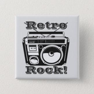 Retro Rots! Vierkante Button 5,1 Cm