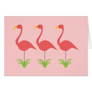 Retro Roze Flamingo's van het Koraal voor Om het Briefkaarten 0