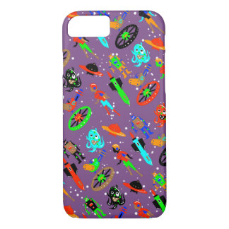 RETRO SCIENCE FICTION door Jetpackcorps iPhone 8/7 Hoesje