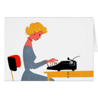 Retro Secretaresse, Administratieve Professionele Kaart
