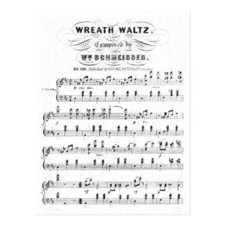 Retro staven van de nota's van de bladmuziek briefkaart