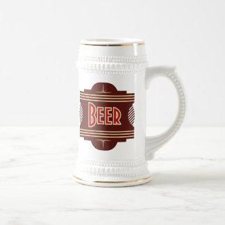 Retro Stenen bierkroes van het Logo van het Bier Koffie Beker