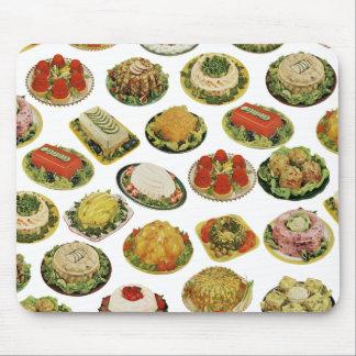 Retro Stootkussen van de Muis van de Salades van Muismat