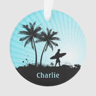 Retro Surfer ornament van de douanenaam