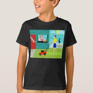 Retro T-shirt van de Ochtend van de Zaterdag