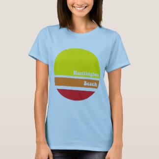 Retro T-shirt van het Strand van Huntington