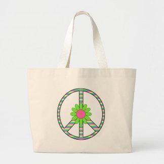 Retro T - shirts van de Bloem van het Symbool van  Draagtas