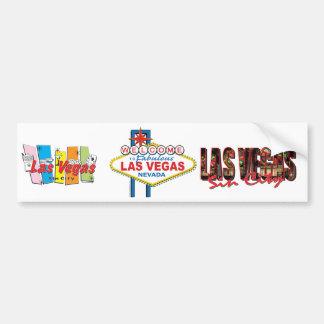 Retro Teken van Las Vegas Bumpersticker