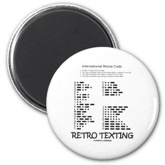 Retro Texting (Morsecode Internatonal) Magneet