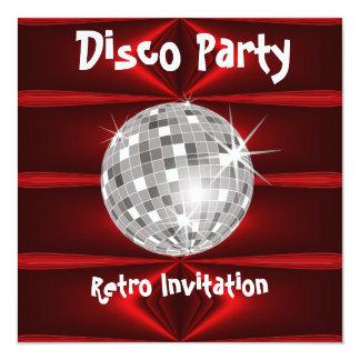 Retro uitnodiging van de Partij van de Disco