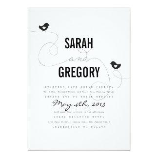 Retro Uitnodigingen van het Huwelijk van de Vogels