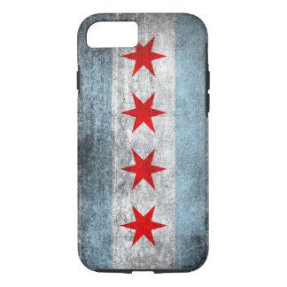 Retro Verontruste Vlag van Chicago iPhone 8/7 Hoesje