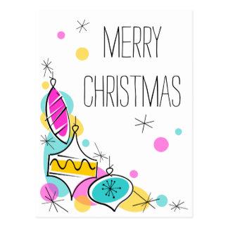 Retro verticaal van Kerstmis van de Hoek van de Briefkaart