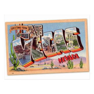 Retro Vintage Briefkaart Las Vegas Nevada van de