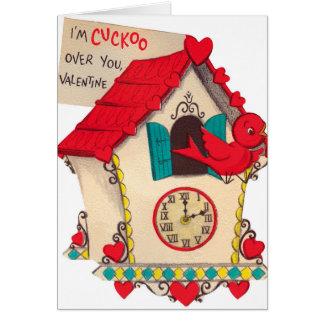 Retro Vintage de vogelkaart van Valentijn Briefkaarten 0