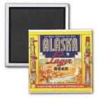Retro Vintage Etiket van het Lagerbier van Alaska Magneet