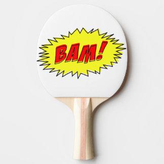 Retro Vintage Grappige Bam Peddel van de Pingpong Tafeltennis Bat