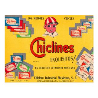 Retro Vintage Kauwgom Chiclines Mexico van de Briefkaart