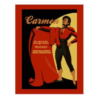 Retro vintage opera van kunstTrambestuurders Briefkaart