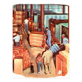 Retro Vintage Papa van de Manager van de Fabriek Briefkaart