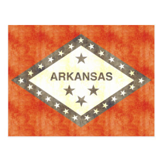 Retro Vintage Vlag van Arkansas Briefkaart