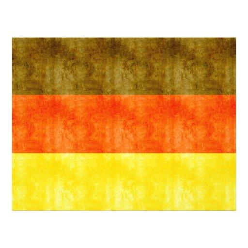 Retro Vintage Vlag van Duitsland Persoonlijke Folder