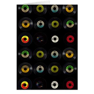 Retro Vinyl Lege Kaart van het Album van het