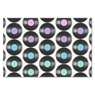 Retro Vinyl registreert het Kleurrijke Ontwerp van Tissuepapier