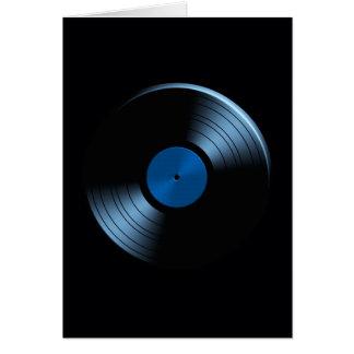 Retro VinylAlbum van het Verslag in Blauw Wenskaart