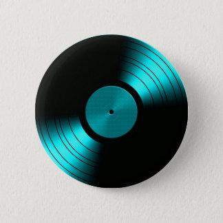 Retro VinylAlbum van het Verslag in Wintertaling Ronde Button 5,7 Cm
