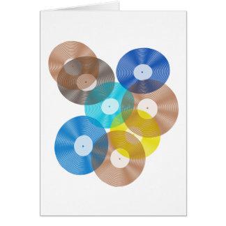 Retro VinylKaart van het Collectie van het Verslag Wenskaart