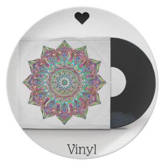 Retro VinylVerslag en Psychedelisch Sleeve Hippy Melamine+bord