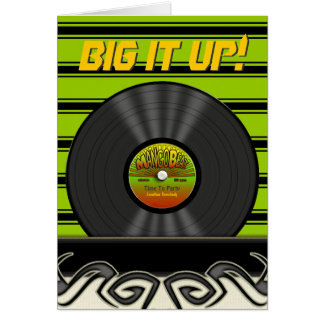 Retro VinylVerslag Gepersonaliseerde Kaarten