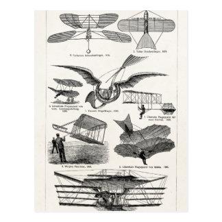 Retro Vliegtuigen van de vintage van Vliegtuigen Briefkaart