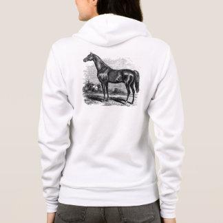 Retro Volbloed- Paarden van het vintage Paard van Hoodie