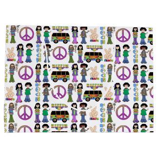 Retro Vrede van de Liefde van de Hippie van jaren Groot Cadeauzakje