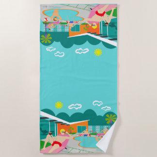 Retro Vrolijke Handdoek van het Strand van de
