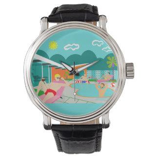 Retro Vrolijke Horloge van de Partij van de Pool