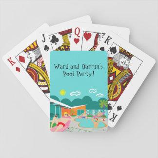 Retro Vrolijke Speelkaarten van de Partij van de