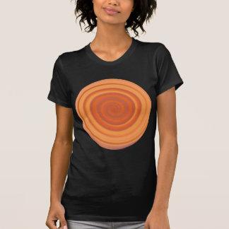 Retro Werveling van het Snoep in het Sinaasappel T Shirt
