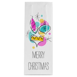 Retro wijn van de de giftzak van Kerstmis van de Wijn Cadeautas
