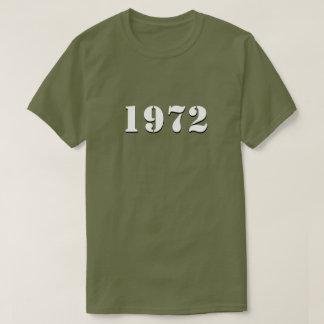 Retro (witte) T-shirt van 1972