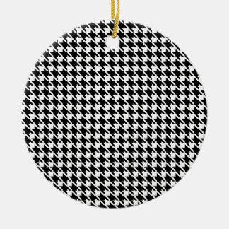 Retro zwart-wit patroon rond keramisch ornament