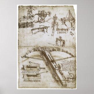 Reuze Kruisboog op Wielen, Leonardo da Vinci Poster