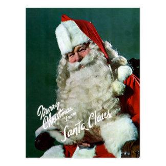 Reuze-post Kaart - Vrolijke Kerstmis van Kerstman
