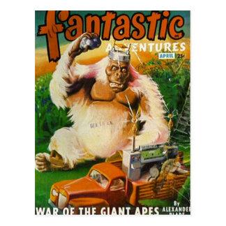 Reuze Witte Gorilla Met afstandsbediening Briefkaart