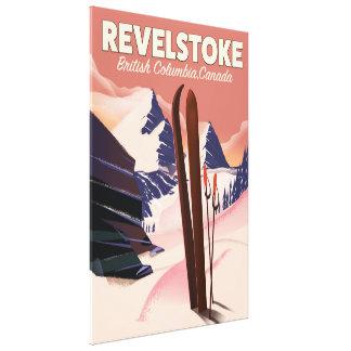 Revelstoke het poster van de Ski van Brits Canvas Afdruk