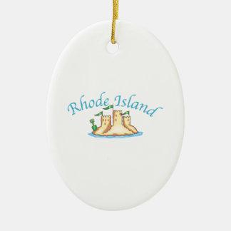 Rhode Island Keramisch Ovaal Ornament
