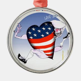 Rhode Island luide en trotse, tony fernandes Zilverkleurig Rond Ornament