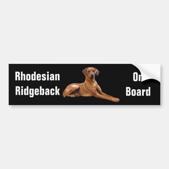 Rhodesian Ridgeback bumpersticker